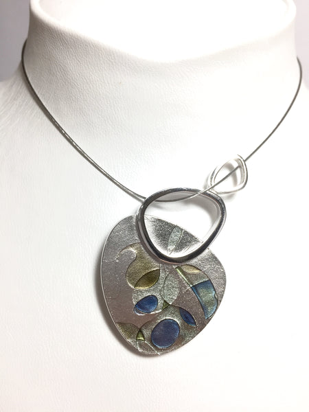 Silver & Enamel - Necklace