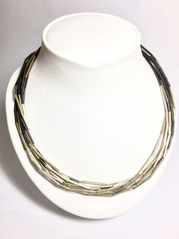 Three tone Silver - Necklace