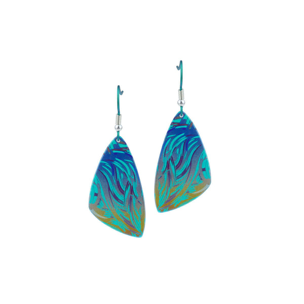 Plectrum titanium drop earrings | PM/T.E529.GREEN