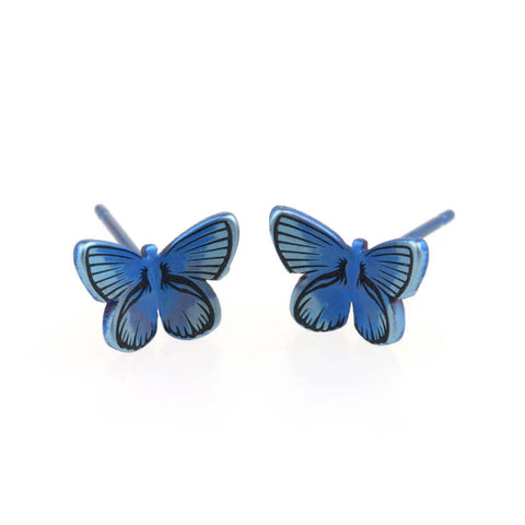 Butterfly Titanium Stud Earrings | T.S381