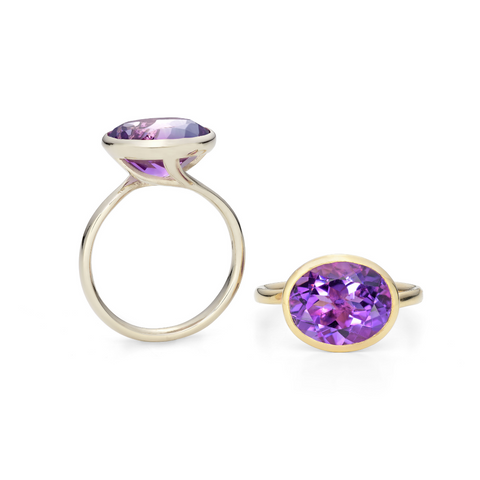 Amethyst White Gold Ring
