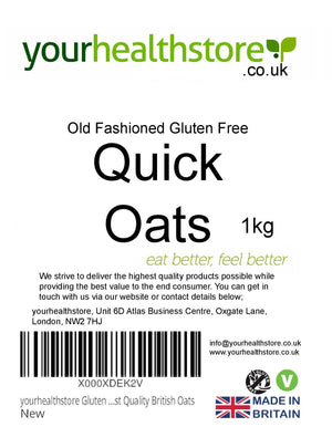 yourhealthstore Gluten Free Old Fashioned Quick Oats 1kg (Instant Oats)
