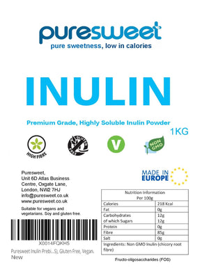 Puresweet Premium Grade Inulin 1kg, high soluble Inulin Powder
