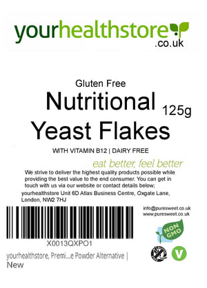 Nutritional Yeast Flakes 125g, Gluten Free