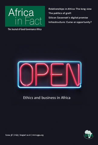 Africa in Fact Issue 38, July - August 2016: Ethics and Business in Africa.