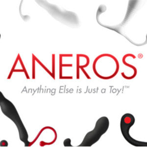 aneros logo surrounded by aneros prostate massagers