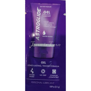 Astroglide Gel Water Based Lubricant Sachet 5ml Buy in Singapore LoveisLove U4Ria