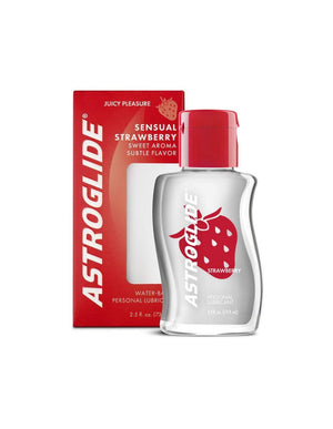Astroglide Strawberry Flavored Lubricant 73.9 ML 2.5 FL OZ (Popular Strawberry Flavor Lube)(New Packaging Restocked Sale)