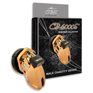 CB-X CB-6000S Gold Male Chastity Cock Cage Kit 2.5 Inch Buy in Singapore LoveisLove U4Ria