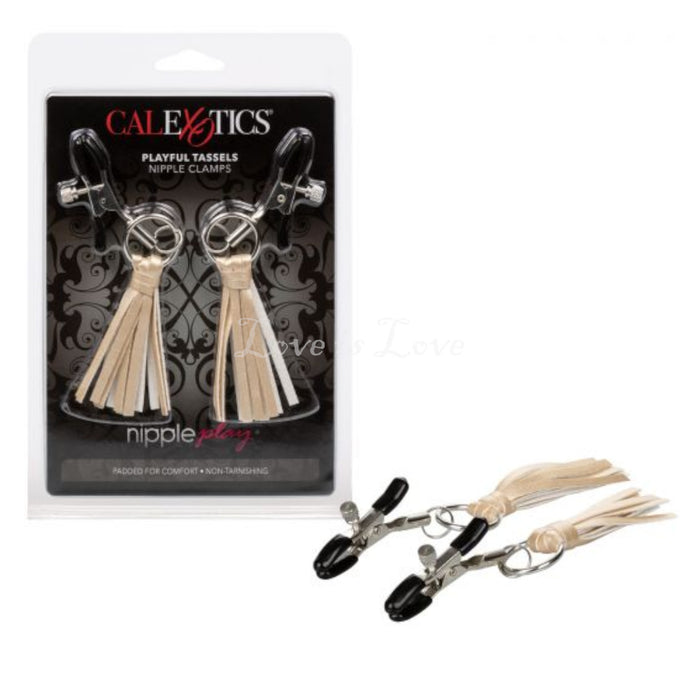 CalExotics Nipple Play Playful Tassels Nipple Clamps Gold