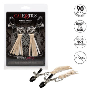 CalExotics Nipple Play Playful Tassels Nipple Clamps Gold Buy in Singapore LoveisLove U4ria