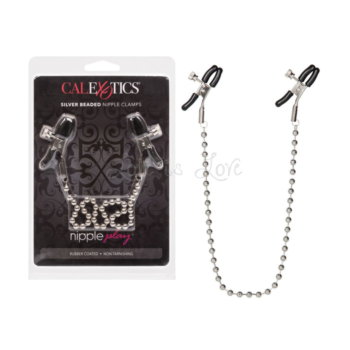 CalExotics Nipple Play Silver Beaded Nipple Clamps