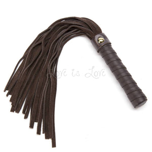 Coco de Mer Brown Leather Small Flogger buy in singapore LoveisLove U4ria