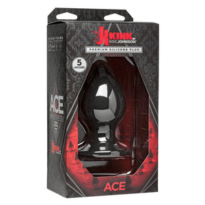 Doc Johnson Kink Ace Silicone Plug 5 Inch Black Buy in Singapore LoveisLove U4ria