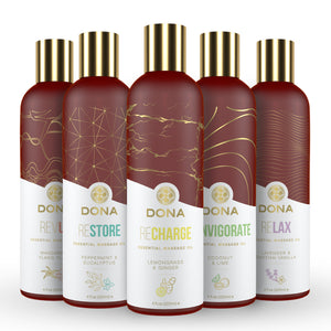 Dona Essential Massage Oil Recharge Lemongrass and Ginger 4 fl oz 120 ML Buy in Singapore LoveisLove U4ria