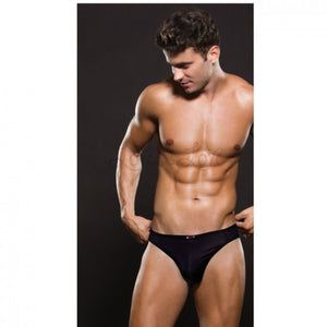 Envy Menswear Microfiber Thong Black S/M, M/L or L/XL Buy in Singapore LoveisLove U4Ria