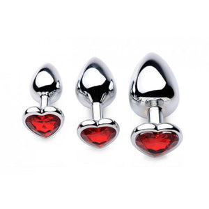 Frisky Chrome Hearts 3 Piece Anal Plugs With Gem Accents Buy in Singapore U4ria LoveisLove