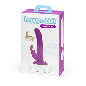 Happy Rabbit Rechargeable Vibrating Strap-On Harness Set Purple Buy in Singapore LoveisLove U4ria