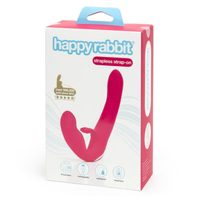 Happy Rabbit Rechargeable Vibrating Strapless Strap On Pink Buy in Singapore LoveisLove U4ria