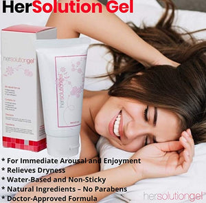 HerSolution Enhancement And Arousal Gel (Doctor-Approved Formula - Female Libido Gel)
