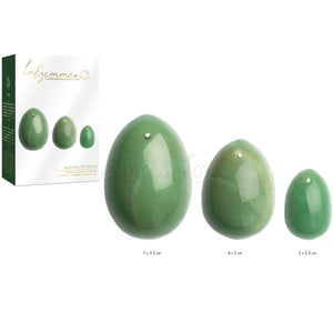 La Gemmes Yoni Egg Set Handcrafted Kegel Jade (L-M-S) (Crystals Given by Mother Earth buy in Singapore LoveisLove U4ria