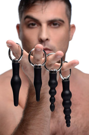 Master Series 4 Piece Silicone Anal Ringed Rimmer Set Buy in Singapore U4ria LoveisLove