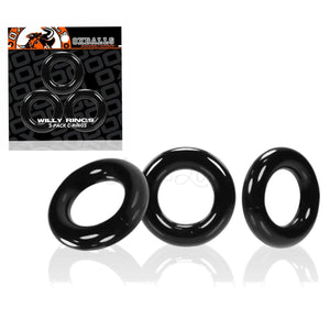 Oxballs Willy Ring Cockring 3-pack Black buy in Singapore LoveisLove U4ria