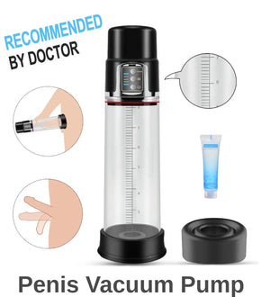 Paloqueth Rechargeable Automatic Penis Vacuum Pump with 4 Intensity Levels
