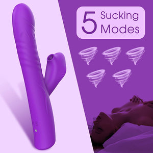 Paloqueth Thrusting G-Spot and Clitoris Suction Rabbit Vibrator buy in Singapore LoveisLove U4ria