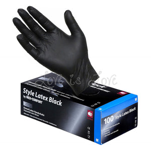 AMPri Style Latex Black by Med-Comfort Examination Gloves 100pcs  Buy in Singapore U4ria LoveisLove