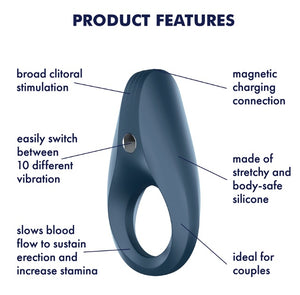 Satisfyer Rings Plus Vibration Rechargeable Rocket Cock Ring buy at LoveisLove U4Ria Singapore