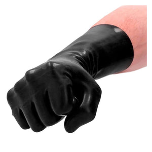 Shots Fist It Latex Short Gloves Black buy in Singapore LoveisLove U4ria