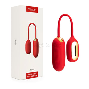 Svakom Muse Rhythm Based Music Vibrator Red Buy in Singapore LoveisLove U4Ria