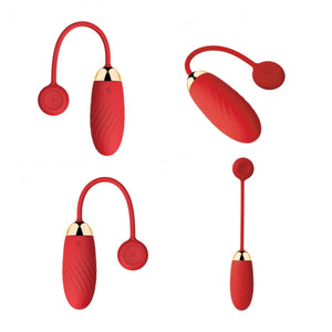 Svakom Ella Mobile controlled Wearable Bluetooth Vibrating Bullet Egg with App Red Buy in Singapore U4ria LoveisLove