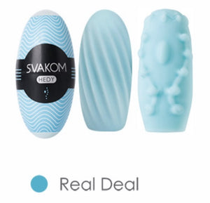 Svakom Hedy Multiple Times of Usage Masturbator Sleeve with Water-base Lubricant Pale Blue Buy in Singapore U4ria LoveisLove