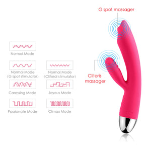 Svakom Trysta Dual-Motor Targeted Rolling-Bead G-spot & Clitoris Vibrator Plum Red Buy in Singapore LoveisLove U4ria