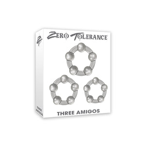 Zero Tolerance Three Amigos Cock Ring Set of Three Smoke buy in Singapore LoveisLove U4ria