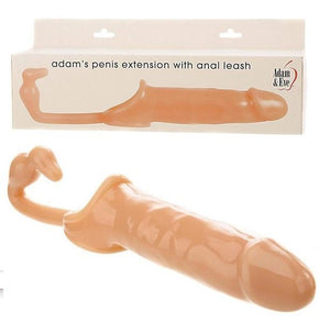 Adams Penis Extension With Anal Leash For Him - Penis Sheath/Sleeve Adam & Eve