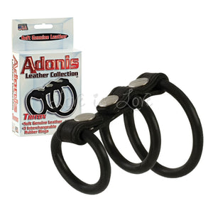 Adonis Leather Collection Triton For Him - Cock Ring Sets Calexotics