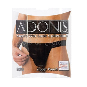 Adonis Wet Look - Zipper Pouch For Him - Men's Intimate Wear Calexotics