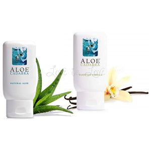 Aloe Cadabra Organic Lubricant Tahitian Vanilla or Natural Aloe 2.5 oz Lubes & Toy Cleaners - Natural & Organic Eldorado