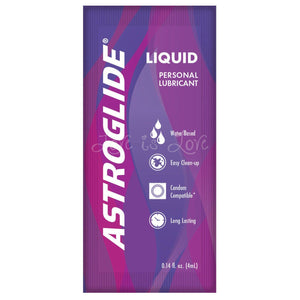 Astroglide Liquid Sachet 4ml Lubes & Toy Cleaners - Water Based Astroglide