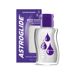 Astroglide Water-based Lubricant 2.5 oz or 5 oz (New Packaging - Newly Replenished on Apr 19) Lubes & Toy Cleaners - Water Based Astroglide 2.5 fl oz (73.9 ml)