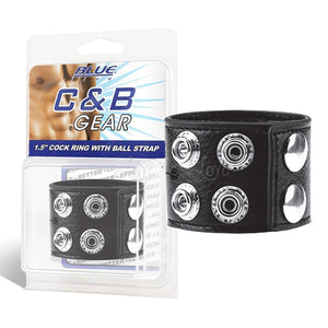 Blueline C&B 1.5 Inches Cock Ring With Ball Strap Cock Rings - Cock & Ball Gear Electric Eel Inc