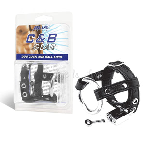 Blueline C&B Duo Cock and Ball Lock Cock Rings - Cock & Ball Gear Electric Eel Inc