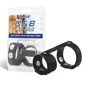 Blueline C&B Duo Snap Cock and Ball Ring Cock Rings - Cock & Ball Gear Electric Eel Inc