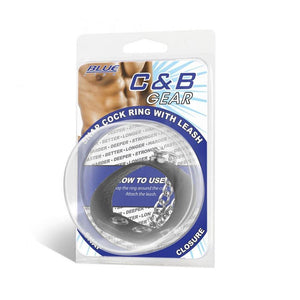 Blueline C&B Snap Cock Ring With 12 inches Leash Cock Rings - Cock & Ball Gear Electric Eel Inc