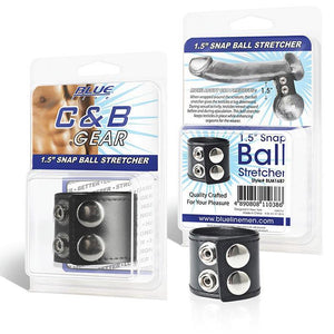 Blueline Cock and Ball Gear 1.5 Inch Snap Ball Stretcher Bondage - Cock & Ball Gear Electric Eel Inc