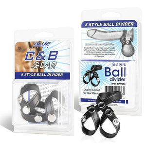 Blueline Cock and Ball Gear 8 Style Ball Divider Bondage - Cock & Ball Gear Electric Eel Inc