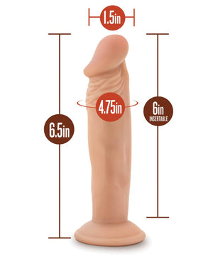 Blush Novelties Dr. Skin Dr. Small 6 Inch Dildo with Suction Cup ( Limited Stock )